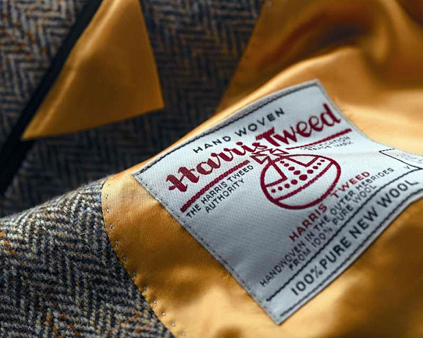 Жакет из твида Harris Tweed