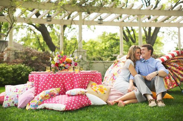 Summer Garden Party pillows